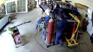 Pulling Frame on Toyota Camry, Cut and Replaced Rear End