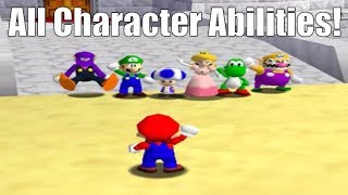 Super Mario 64 Online - All Character Abilities