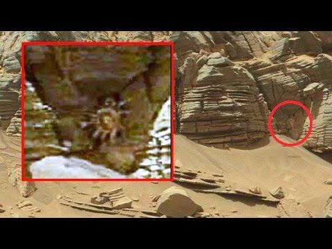 NASA encuentra extraño fósil extraterrestre con forma de cangrejo en marte