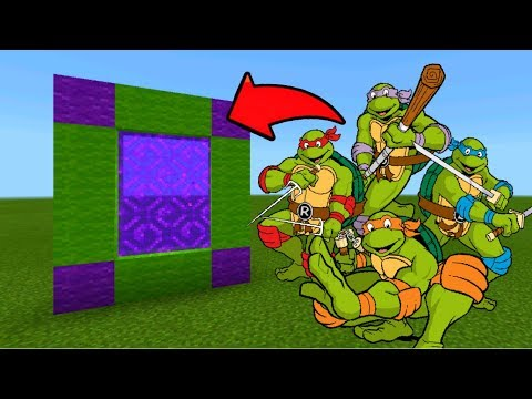 Minecraft Pe How To Make a Portal To The Ninja Turtles Dimension - Mcpe Portal To The TMNT!!!