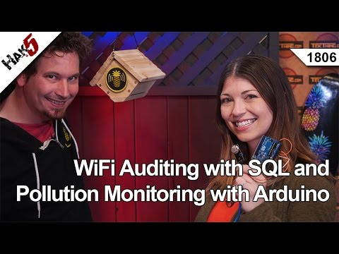 WiFi Auditing with SQL and Pollution Monitoring with Arduino, Hak5 1806