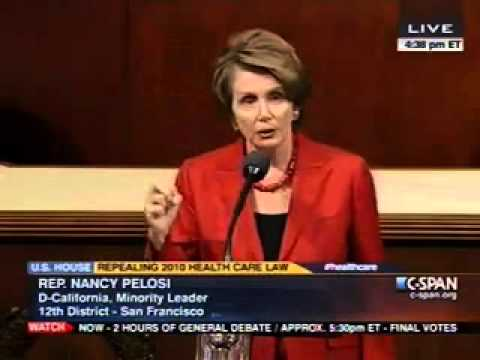 Pelosi Floor Speech in Opposition to House GOP Patients' Rights Repeal Act