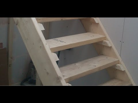 Auto Stairs Retractable Attic Loft Stairs In Garage Shop Diy
