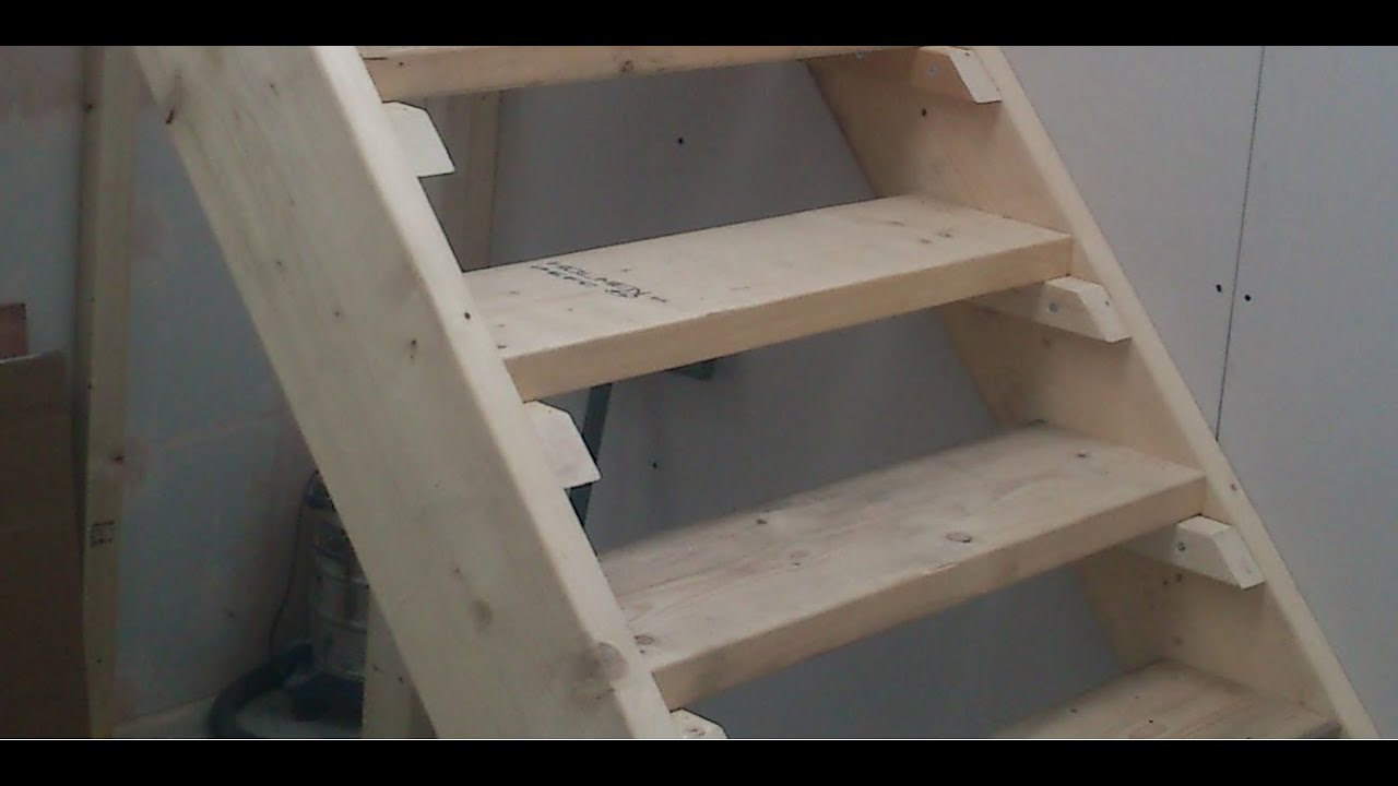 How To Build Stairs Easy Steps Diy Staircase Youtube
