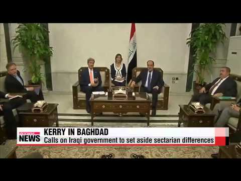 U.S. Secretary State in Baghdad to press Iraqi leaders