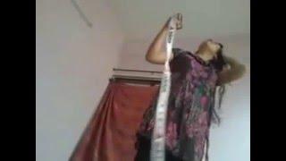 Bengali  aunty wearing dress After Bath