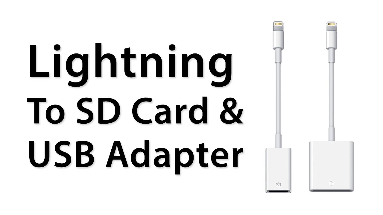 lightning to sd card and usb adapter