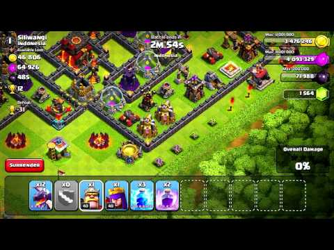 Clash of Clans - Mass Dragons! (Attack Strategy)