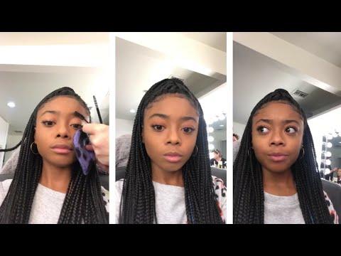 Skai Jackson live during makeup session | Instagram