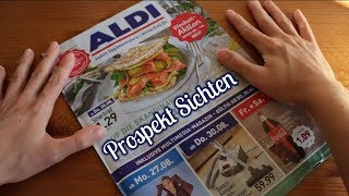 ALDI PROSPEKT SICHTEN (SHOW & TELL, PAPERSOUNDS) - ASMR (GERMAN - DEUTSCH)
