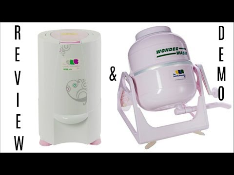 REVIEW & DEMO   The Laundry Alternative Wonder Wash Manual Washer & Nina Soft Mini Spin Dryer