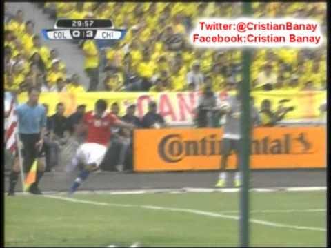 Colombia 3 Chile 3 (ADN Radio Chile)  Eliminatorias Brasil 2014 Los goles (11/10/2013)