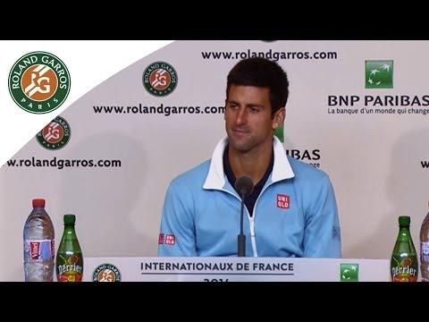 Press conference Novak Djokovic 2014 French Open R4
