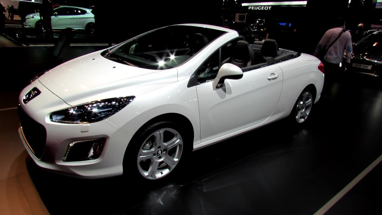 2013 peugeot 308 cc convertible exterior and interior walkaround 2012 paris auto show youtube. Black Bedroom Furniture Sets. Home Design Ideas