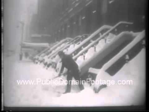 1947 Major snow storm hits New York City Newsreel PublicDomainFootage.com