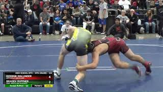 High School (9th - 10th Grade) 120 Dominik Mallinder Izzy Style Wrestling Vs Braden Ruffner MWC Wr