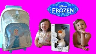 Disney Frozen Videos | Frozen Surprise Backpack and Talking Animators Olaf Toy | Fun Toys Video