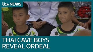 Rescued Thai boys speak on their dramatic cave escape | ITV News