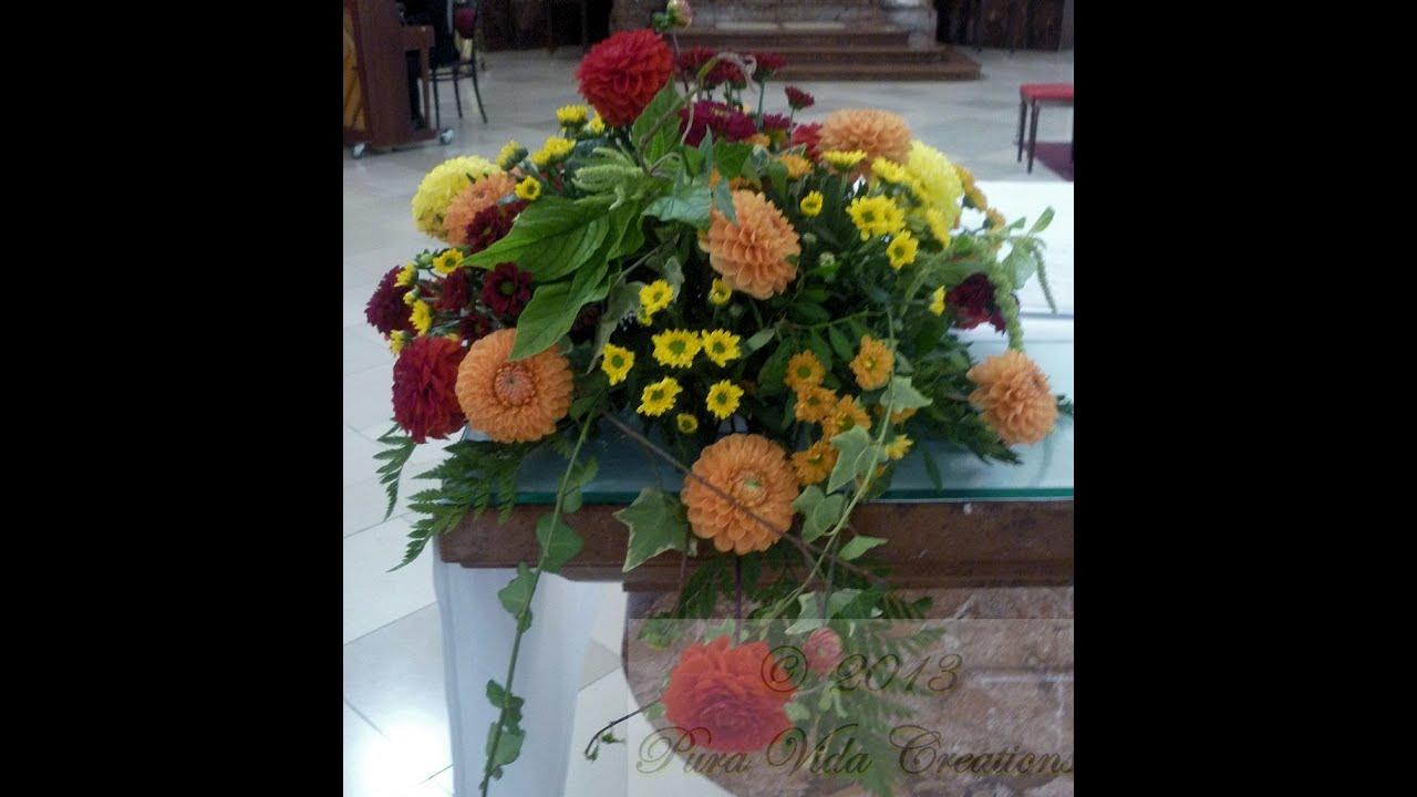Diy como hacer un centro de mesa en espuma floral youtube - Hacer un centro de flores ...