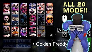 PRACTICING FOR ALL 20 MODE! || FNAF Sister Location Custom Night ULTIMATE (Livestream)