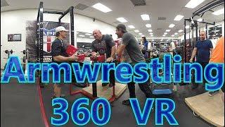 ArmWrestling Practice in 360 VR - Scot Mendelson