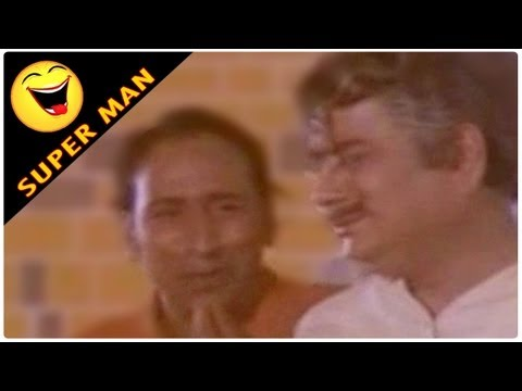 Superman Movie NTR, Jayaprada Comedy Scene Ghosts Scaring Allu Ramalingiah and JayaPrada