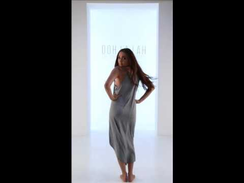 Grey Split Front Maxi Dress
