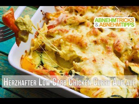 Low Carb Chicken Curry Auflauf Rezept / Kochvideo