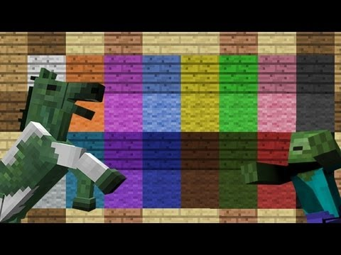 MineCraft 1.6 Snapshot 13w17a Colored Wood. Chest Saddles. Undead Horse!