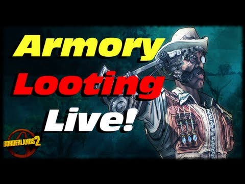 Borderlands 2 Terminus Armory Legendary Chest Looting Live!! Sir Hammerlock's Big Game Hunt DLC!!!