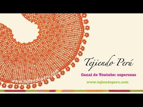 Capa con borde de flores tejida en crochet (Parte 1)