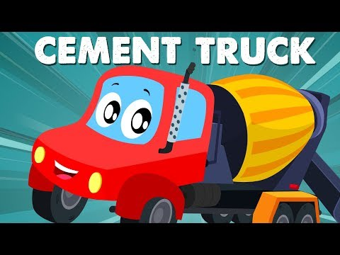 Cement Mixer Truck | Little Red Car | Car Cartoons And Videos For Children by Kids Channel