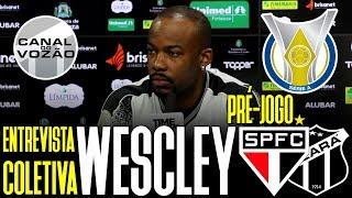 [Série A '19] Coletiva Wescley | Pré-jogo São Paulo FC X Ceará SC | Canal do Vozão