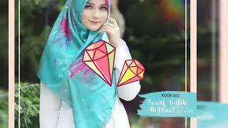 Scarf batik abstrak