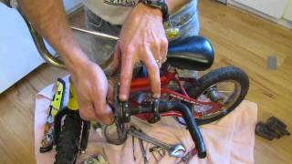 Convert Child's Bike To Balance Bike For Older Learner (i.e. Strider Bike)