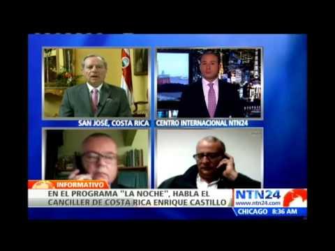 Canciller de Costa Rica señala que la carrera armamentista de Nicaragua representa una amenaza