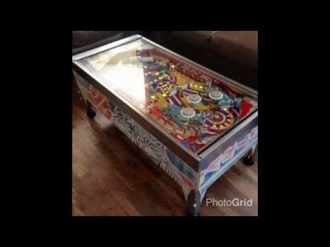 Finished Product: Bally Harlem Globetrotters Pinball Coffee/Cocktail Table.