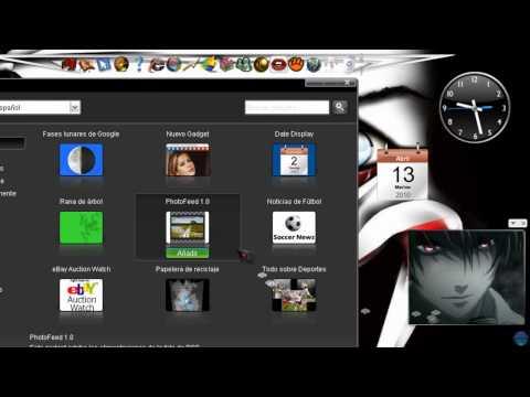 El Mejor Sidebar para Windows XP - Google Desktop (Mas de Mil Gadgets)