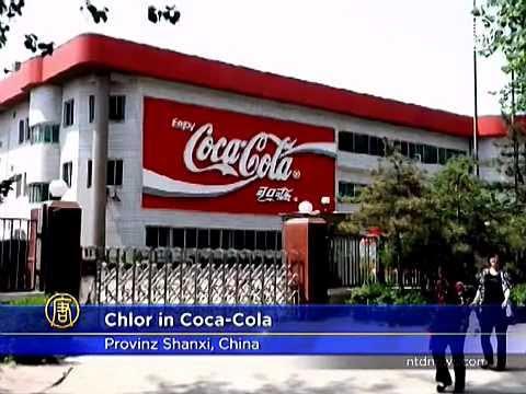 Chlor in Chinas Coca-Cola-Flaschen gefunden