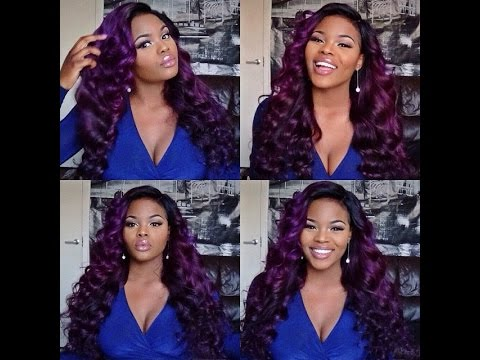 ♥Queen Weave Beauty Ltd. Review + My PURPLE hair!!♥