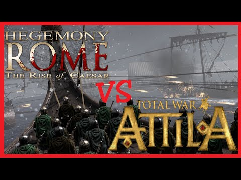 Total war Attila VS Hegemony Rome. ИГРОВОЙ ПАТРУЛЬ №5