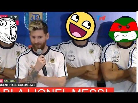¡Para morir de risa!  La verdadera conferencia de prensa de Messi