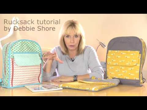 Sewing a rucksack. a tutorial by Debbie Shore