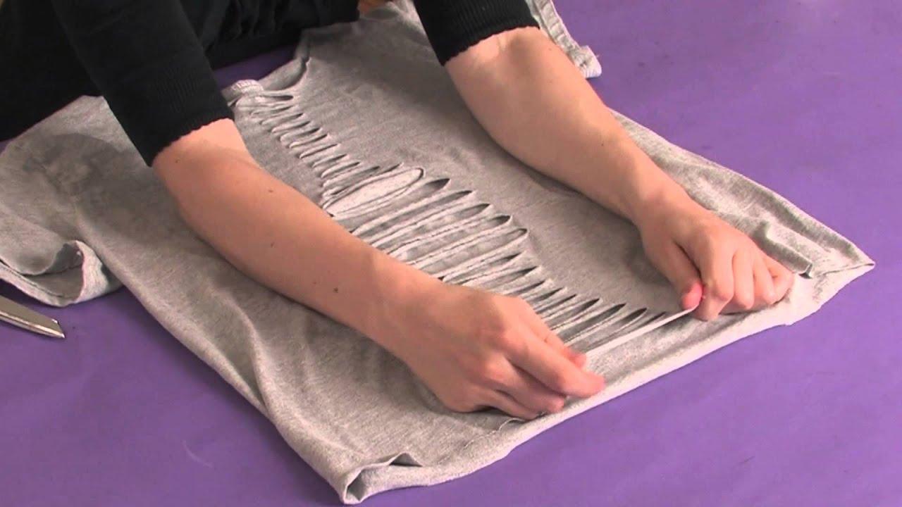 How to Make Cut Off Shirts How to Cut Shirts Like ed