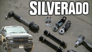 "Installing Heavy Duty Tie Rod Ends & Cognito Steering Braces 2002 Silverado Duramax ""Darth Dually"""