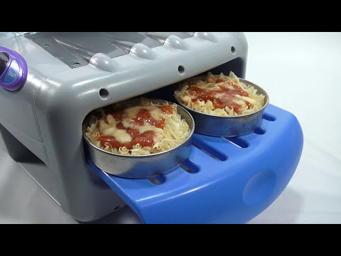 Real Meal Easy Bake Oven!  3 Course Meal - Cookies, Pretzels and Pasta!