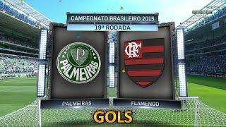 Gols, Palmeiras 4 x 2 Flamengo - Brasileirão 16/08/2015