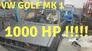 VW Golf mk1 1000hp - extreme tuning