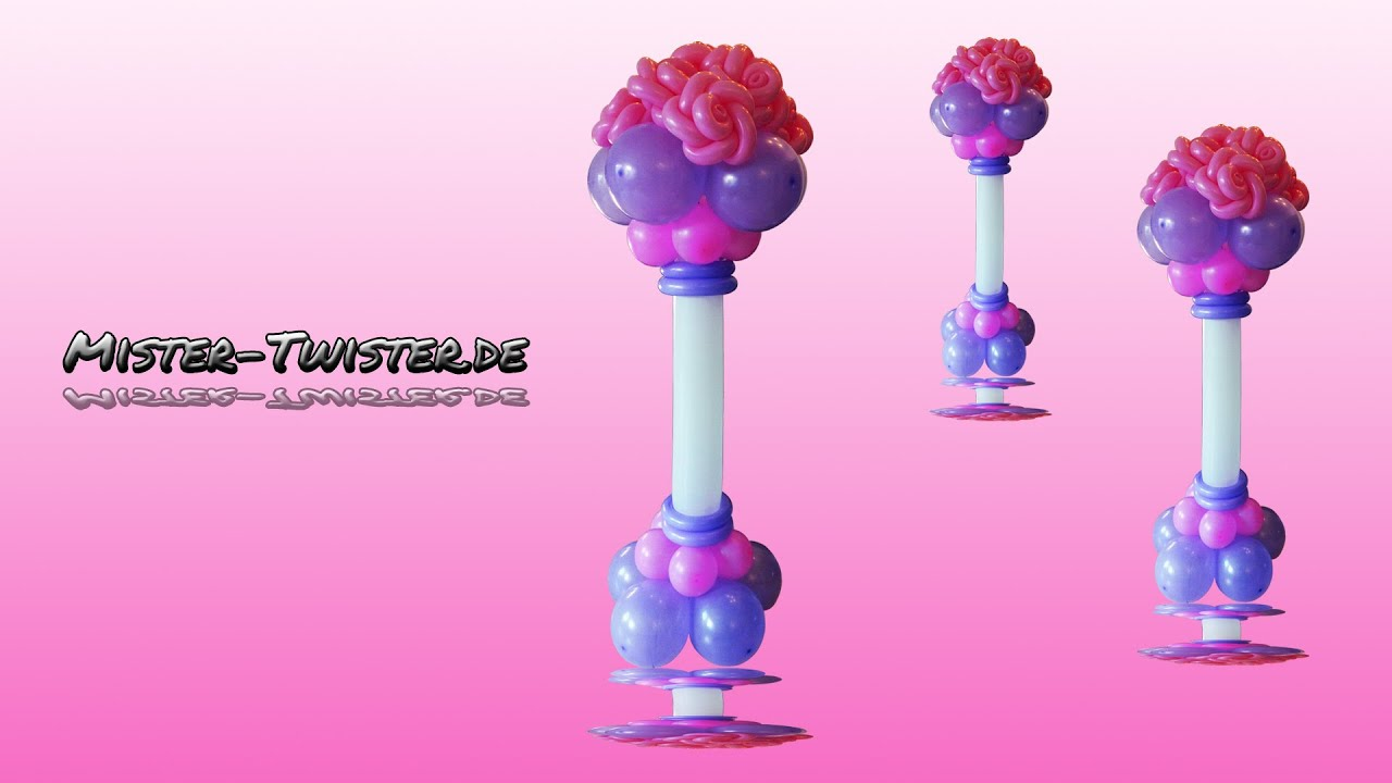 Balloon Rose Column Decoration Wedding Ballon Rosen