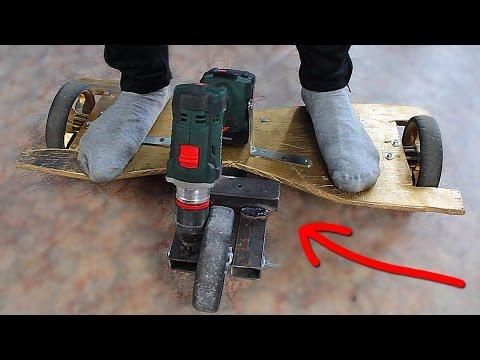 DIY - ГИРОСКУТЕР С МОТОРОМ СВОИМИ РУКАМИ ! HOW to MAKE RUSSIAN Hoverboard